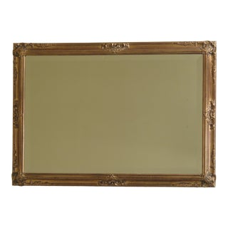 Gold Framed Decorative Mirror with Beveled Glass For Sale