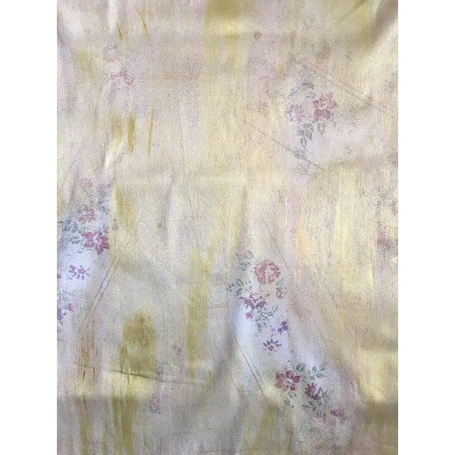 Ralph Lauren Gold Lamé Floral Fabric - Image 1 of 5