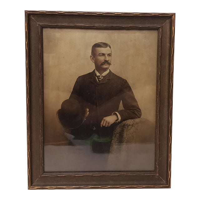 Circa 1920 Framed Portrait Photograph of Gentleman by Ewing Inc. Photographers For Sale