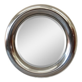 1970s Reggiani Italian Circular Chrome Mirror For Sale