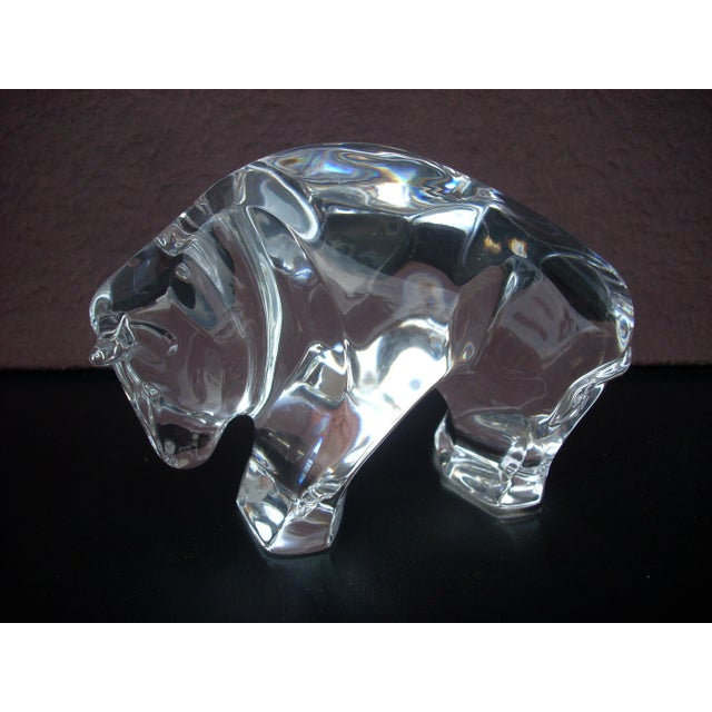 Waterford Clear Crystal Bull - Image 2 of 5
