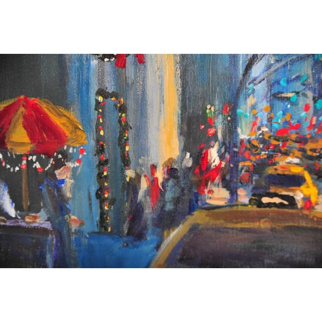 """Downtown Manhattan 4th July,"" Oil Painting - Image 8 of 10"