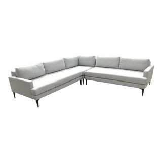 Mid-Century Modern Style Cream Sectional For Sale