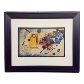 Vintage Abstract Kandinsky Lithograph For Sale