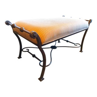 Upholstered Metal Bench For Sale
