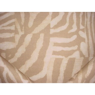 Ralph Lauren Chapman Zebra Sand Linen Print Upholstery Fabric- 9 Yards For Sale