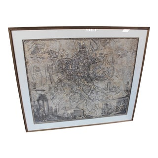 Large 1748 Noli Map of Rome For Sale
