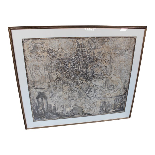 Large 1748 Noli Map of Rome - Image 1 of 9
