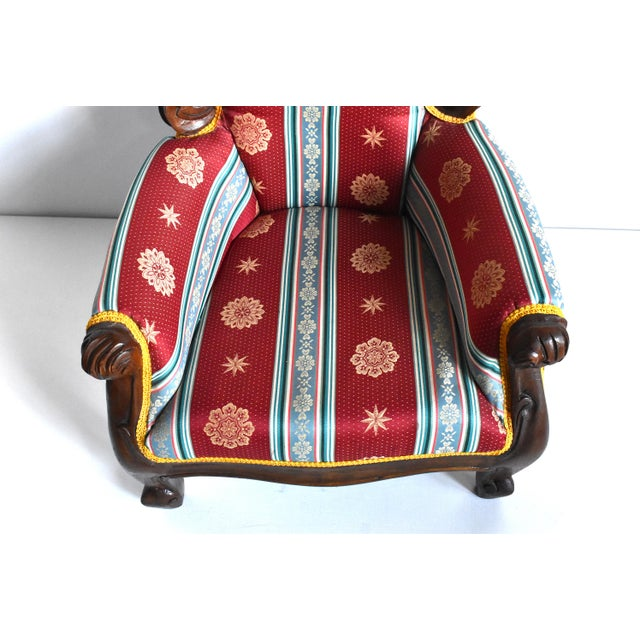 Antique Victorian-Style Upholstered Child's Chair For Sale - Image 9 of 11