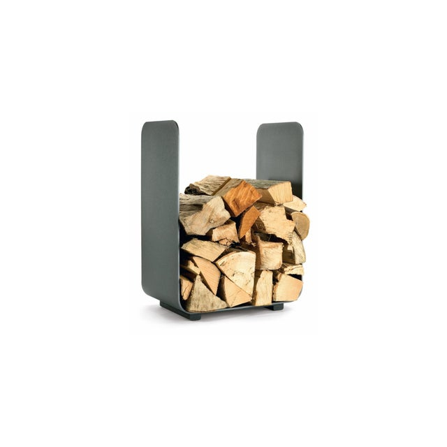 Wood Storage. Made with Steel. This optically modest shelf for firewood, which becomes even more opulent through its...