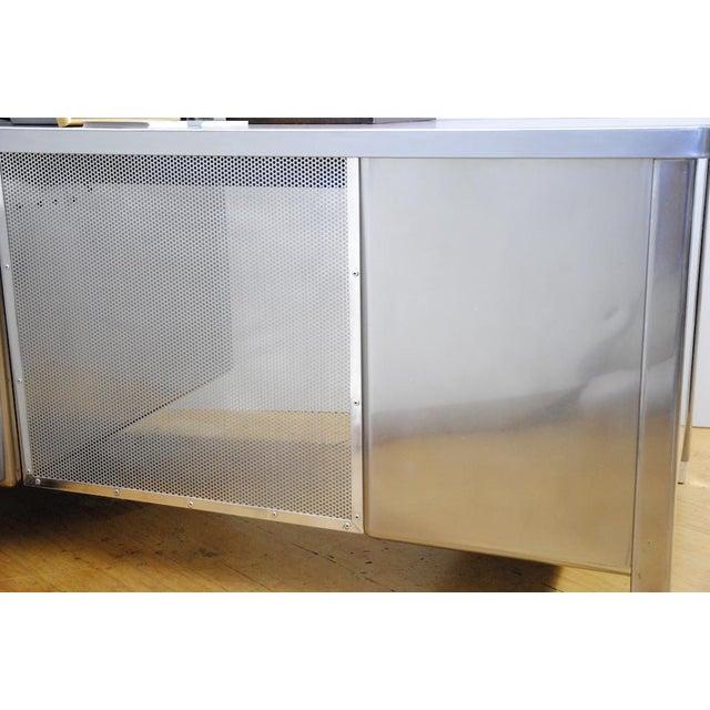 1940's ArtMetal Polished Steel Desk - Image 2 of 7