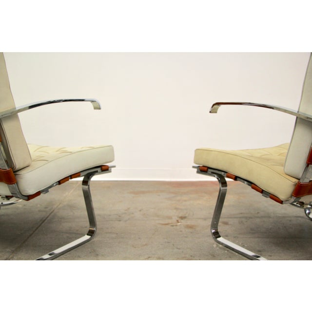 1980s Mies Van Der Rohe and Lilly Reich Tugendhat Chairs - a Pair For Sale - Image 5 of 13
