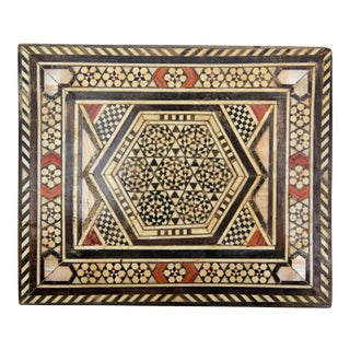 Handcrafted Syrian Mosaic Box with Hints of Mother-of-Pearl For Sale