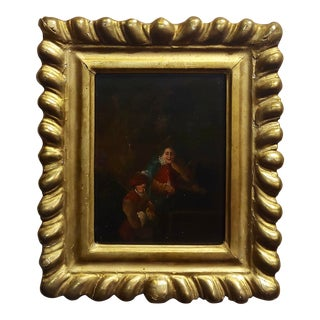 18th Century Flemish Oil Painting -2 Musicians For Sale