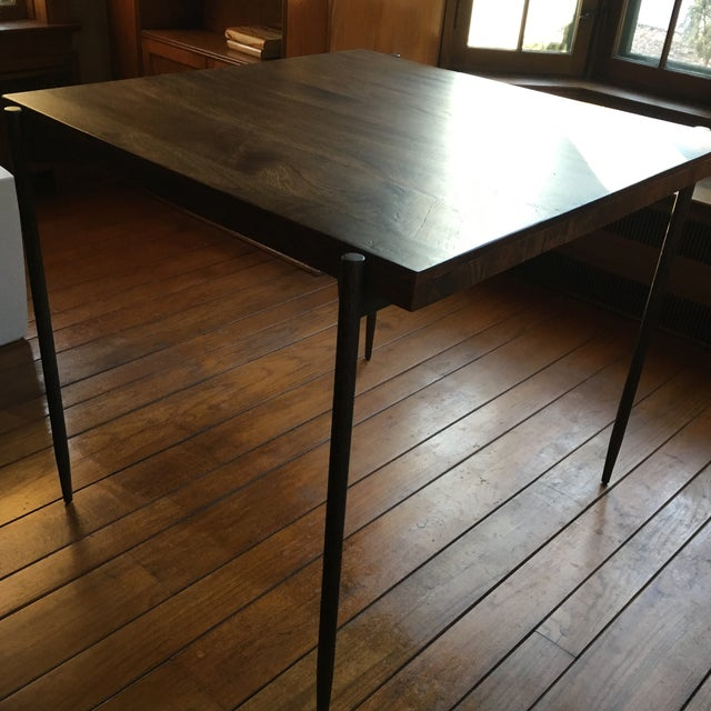 Brown Iron Base Pub Table For Sale - Image 8 of 12