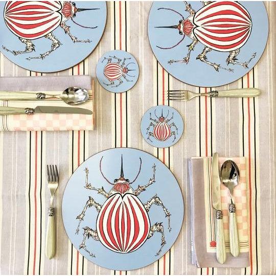 Contemporary The Pandora Cotton Linen Napkin For Sale - Image 3 of 4
