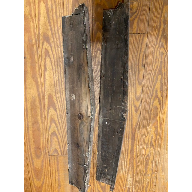 Rustic Wooden Architectural Element Pediments - a Pair For Sale - Image 4 of 6