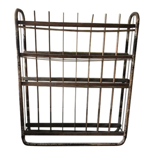 Antique Industrial French Boulangerie Rack For Sale