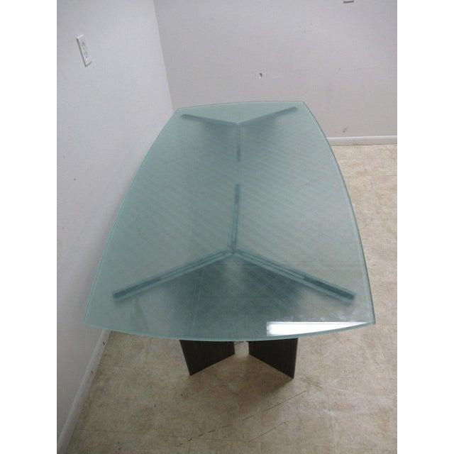 Industrial Vintage Industrial Steel Pedestal Conference Table For Sale - Image 3 of 10