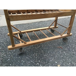 Rustic Wooden Rolling Storage Shelf Preview