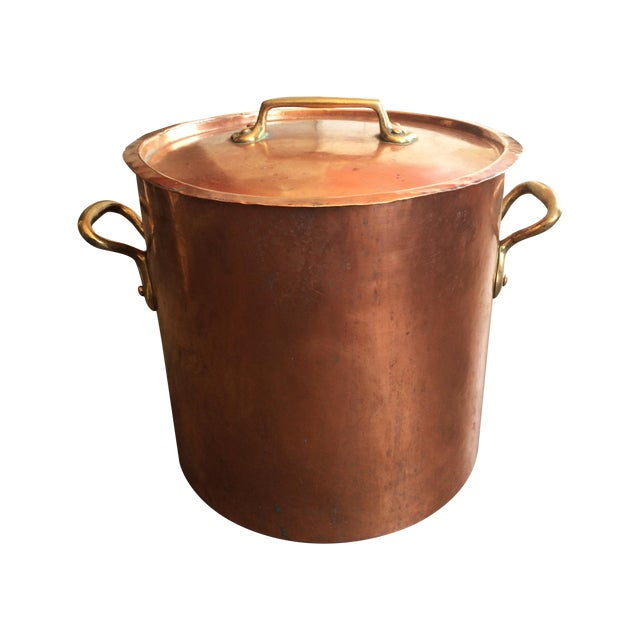 1930s French Copper Stockpot - Image 1 of 8
