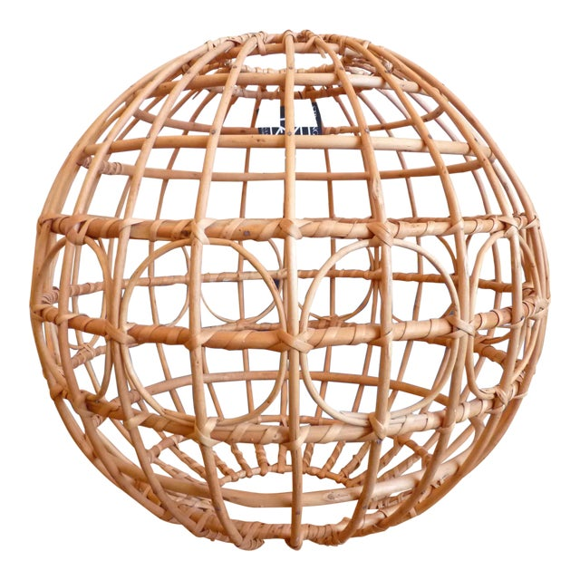 Franco Albini Style Globe Pendant Light Shade For Sale