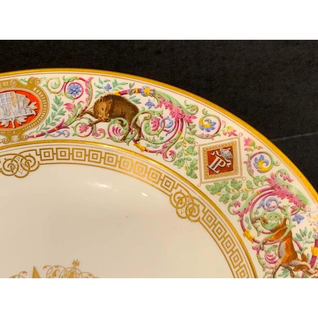 Ceramic Sevres Porcelain Ormolu Tazza, From the Hunting Service of King Louis Philippe For Sale - Image 7 of 12