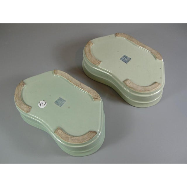 19th Century Chinese Celadon Butterfly Bowls - a Pair For Sale In New York - Image 6 of 11