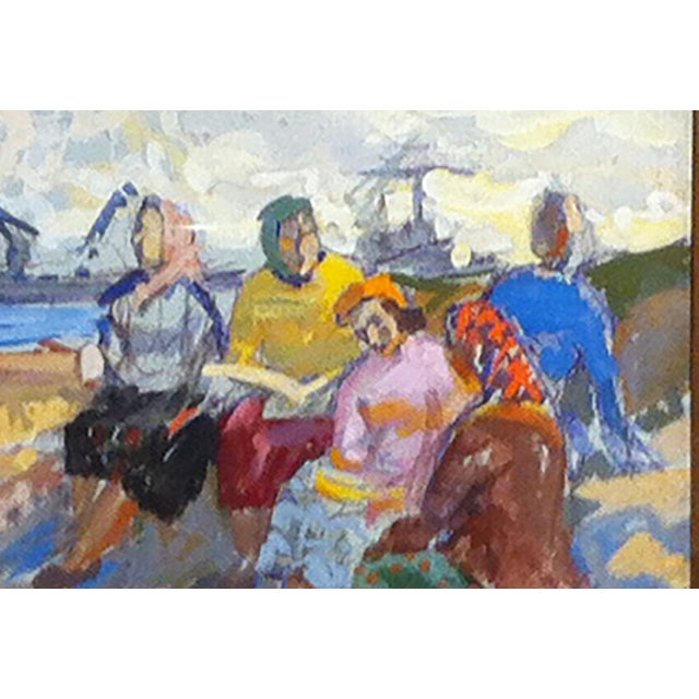 Impressionism Russian Gouache . cir 1950-60's For Sale - Image 3 of 3
