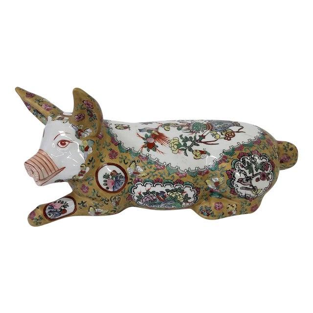 Japanese Meiji Antique Porcelain Pig - Image 1 of 10