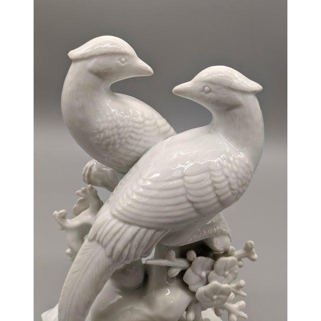 1970s 1970s Blanc De Chine Fitz & Floyd Birds and Flowers Figurine For Sale - Image 5 of 10