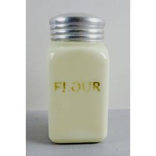 Custard Glass Vintage Flour Shaker Preview