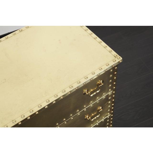 Gold Vintage Brass Dresser by Sarreid For Sale - Image 8 of 9