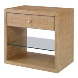 Image of Century Furniture Monterey Side Table (w/glass), Sand For Sale