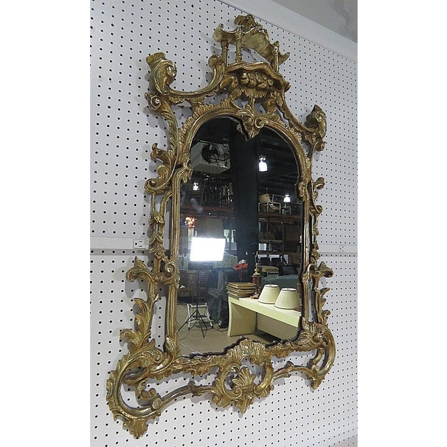 Florentine Style Marble Top Console With Mirror For Sale - Image 9 of 12