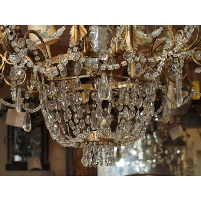 Mid 19th Century 19th Century French Crystal Chandelier For Sale - Image 5 of 11