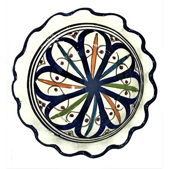 Small Moroccan Hand Painted Dark Blue Bowl - Image 3 of 3
