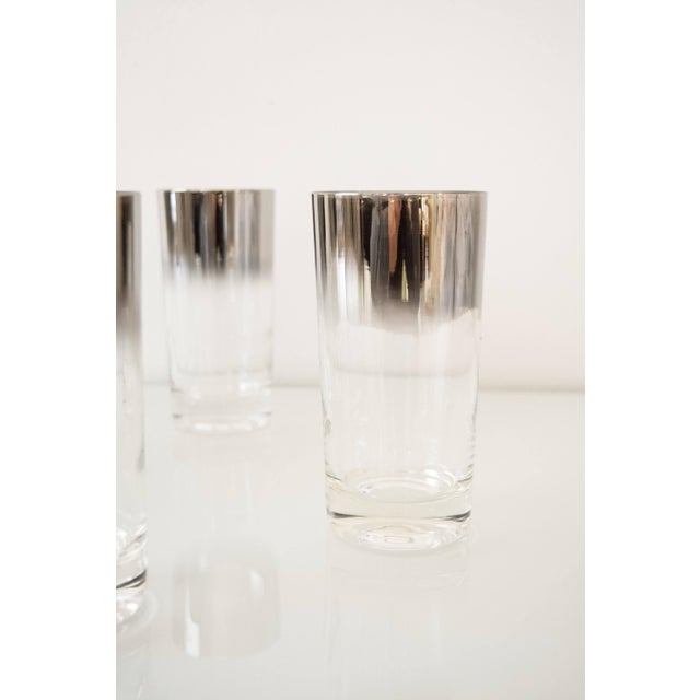 Mid Century Dorothy Thorpe Style Ombre Silver Fade Highball Or Drinking Glasses - Set Of 6 For Sale In Detroit - Image 6 of 6