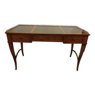 1990s Regency Baker Furniture Milling Road Leather Top Writing Desk For Sale