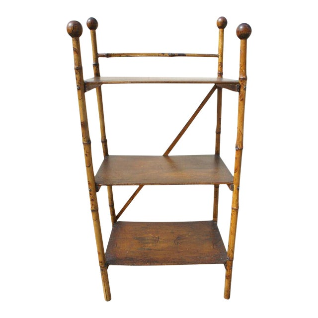 Bamboo Etagere Shelf For Sale