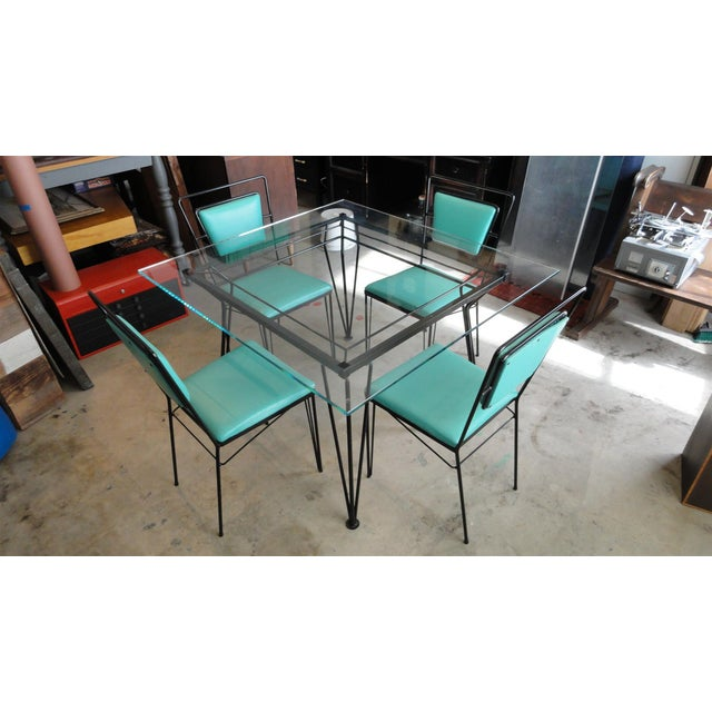 Atomic Age Mid-Century Iron Dining Set - Image 4 of 11