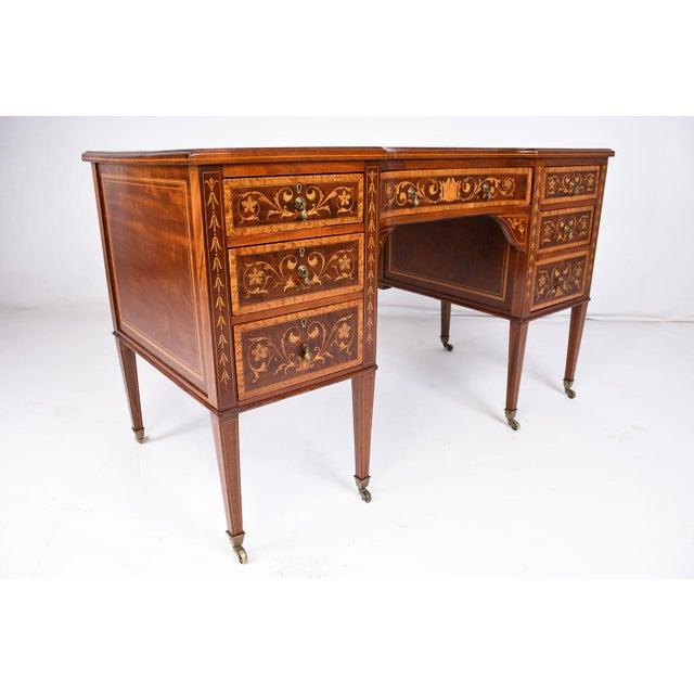 Antique Edwards & Roberts English-Style Desk - Image 4 of 11