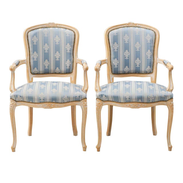 1950s Vintage Rococo Armchairs- A Pair For Sale - Image 4 of 4