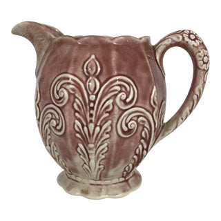 1930s Ceramic Milk Pitcher For Sale