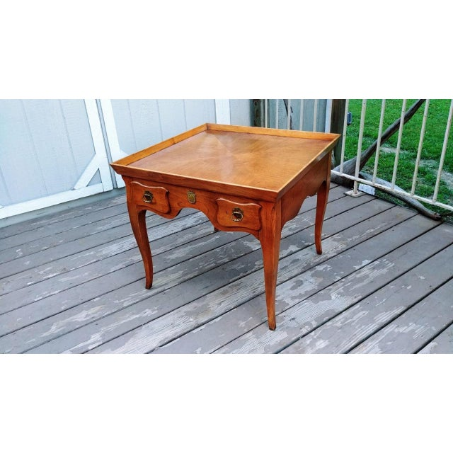 20th Century Regency Baker Furniture Milling Road One Drawer End Table For Sale - Image 6 of 13