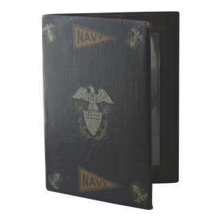 Vintage Us Navy Double Sided Photo Frame