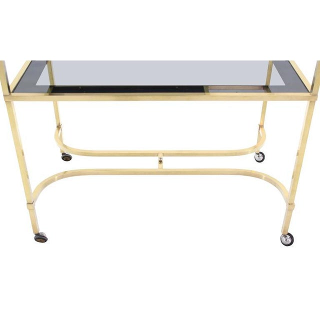 Brass Nice Solid Brass Profile Serving Cart For Sale - Image 7 of 10