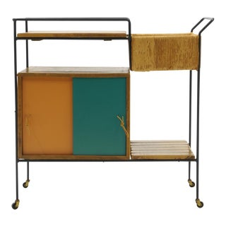 Portable Bar Cart on Casters by Arthur Umanoff For Sale