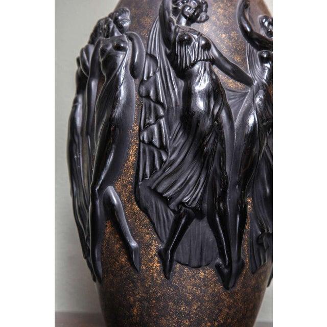Marius-Ernest Sabino Art Deco Vase by Sabino For Sale - Image 4 of 9