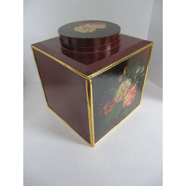 Floral Laquer Box - Image 5 of 7